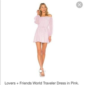 Lovers + Friends Dresses - Light pink off the shoulder dress
